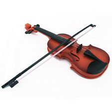 Plastic Childrens Musical String Instrument Toy Kids Violin & Bow For Practice