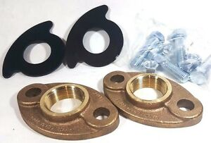 1-1-2-034-Lead-free-Brass-Meter-Flange-Connection-Set-For-1-5-034-Water-Meter