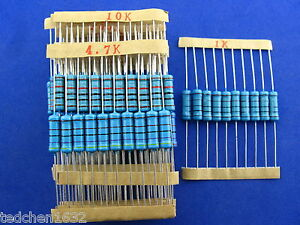 2W-Metal-Film-Resistor-Assorted-Kit-1-tolerance-30Values-300pcs