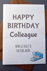 Image Is Loading Greeting Card Birthday Humour Job Banter Work Funny