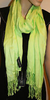 Inc International Concepts Chartreuse Green Solid Neck Scarf 21 X 72