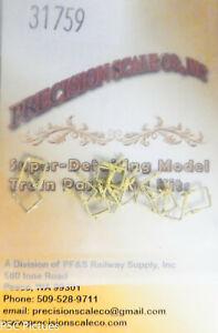 Precision Scale HO #31759 Stirrups, Brass Castings 16 (HO Scale)