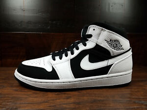 big sale eaac1 d3357 Details about Air Jordan 1 Mid Retro AJ1 (White / Black) TUXEDO  [554724-113] Mens