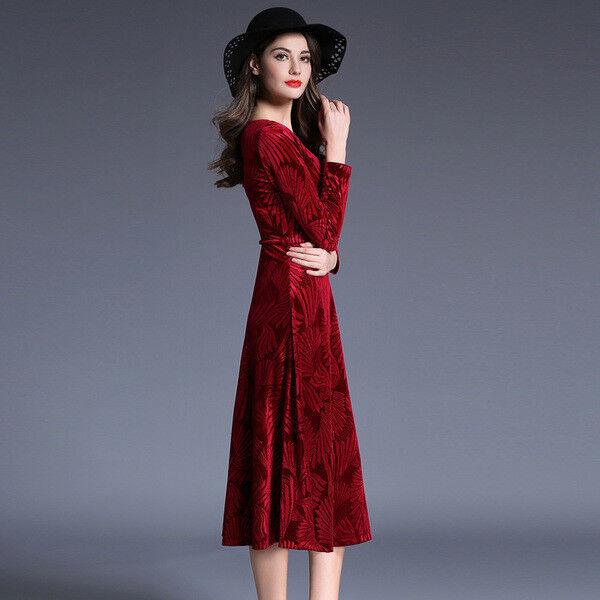 Dress short suit swing élégant red soft mode sleeve 4829