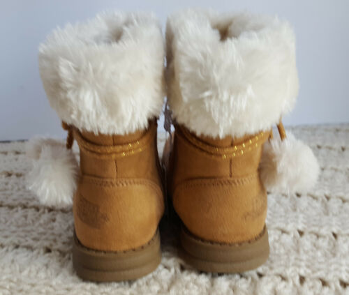 Toddler Girls Casual Winter Boots Brown Faux Suede Faux Fur Paw Patrol