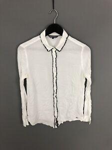 TOMMY-HILFIGER-camisa-tamano-UK8-US6-Blanco-Excelente-Estado-Para-Mujer