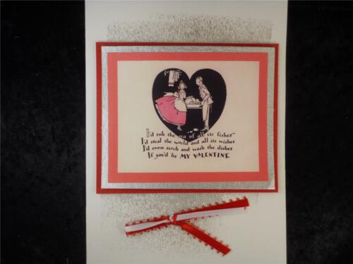 Valentine Will You Be Mine Ask With a Handmade Valentine/'s Day Card