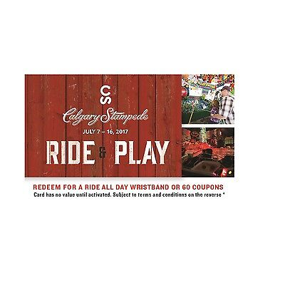 $37.85 Calgary Stampede Ride & Play Gift Card!