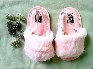 Girl Baby Plush Furry Crib Strap Slip
