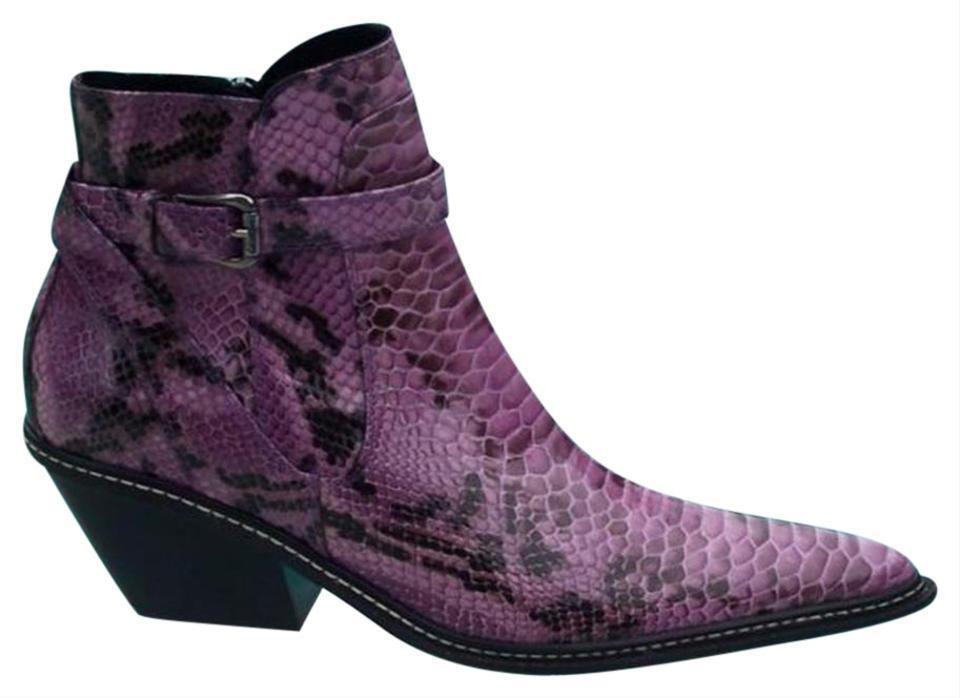 vendita outlet online Donald Pliner Pliner Pliner Western Couture Vino Python Patent Leather avvio scarpe New NIB  525  risparmia fino al 70%