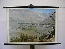 schönes altes Wandbild typische Andenhochtal Berge Amerika 75x51cm vintage ~1960