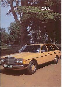 Mercedes Benz W123 250 T Estate 1979 80 Original Uk Specification