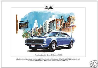 CHEVROLET CAMARO SS396 1969 Super Sport Convertible Fine Art Print A3 size