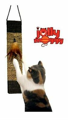 SISAL CATNIP CAT SCRATCHING SCRATCHER BOARD – HANGING OR FLAT WITH FEATHER TOY