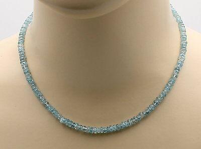 Zirkon-kette Hellblau Zirkon Halskette Facettiert Für Damen 43,5 Cm SorgfäLtige Berechnung Und Strikte Budgetierung