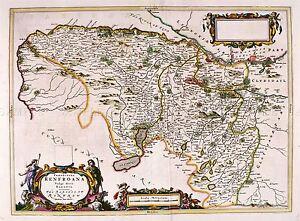 MAP-ANTIQUE-BLAEU-SCOTLAND-1654-RENFREW-OLD-LARGE-REPLICA-POSTER-PRINT-PAM0621