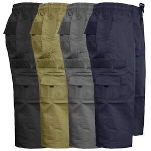 Nuevo-pantalon-corto-para-hombre-de-carga-de-combate-3-4-Largo-Elastico-Pantalones-Informales-Tallas
