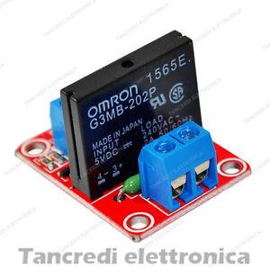 Modulo-Rele-SSR-1-Canale-Relay-Stato-Solido-5V-2A-Rele-per-Arduino-Omron-scheda