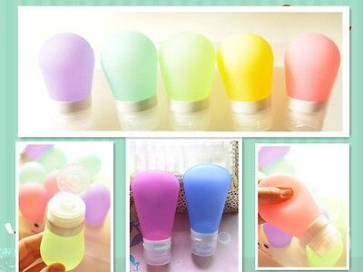 3pcs Silicone Inverted Squeeze Bottle Travel Portable Cosmetic Tube 37ml60ml90ml