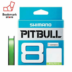 NEW-Shimano-Pitbull-X8-Lime-Green-200m-27-0lb-12-2kg-1-2-Braided-PE-Line-Japan