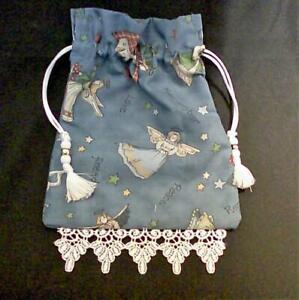 Angels-Tarot-Card-Drawstring-Mojo-Bag-Cotton-Pouch-FREE-SHIPPING
