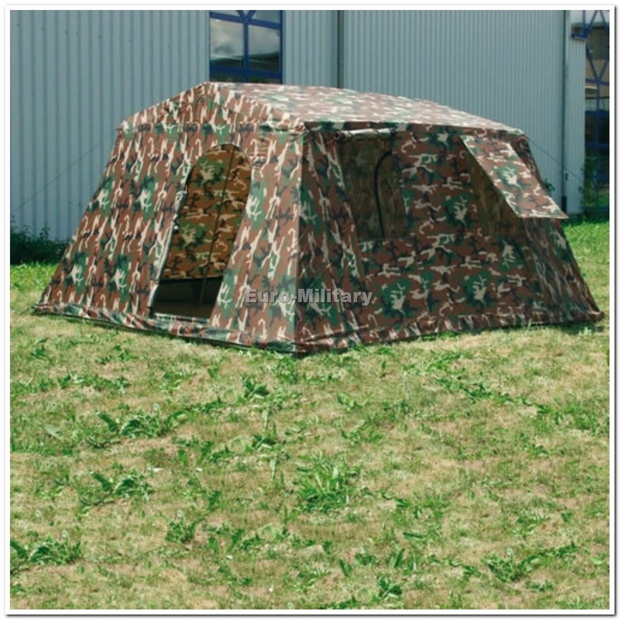 Military Army Outdoor Large Person BaseCamp Tent Shelter 6 Person Large Woodland - Brand New afd20f