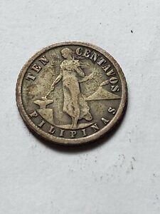 1919-S-US-Phillipines-Ten-Centavos
