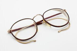 Robert-La-Roche-RLR-1980s-Vintage-Eyeglasses-Unisex-Austria-Tortoise-Red-amp-Gold