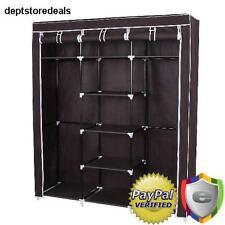 Wardrobe Closet Storage Clothes Bedroom Organizer Rack Cabinet Fabric Cover Dust