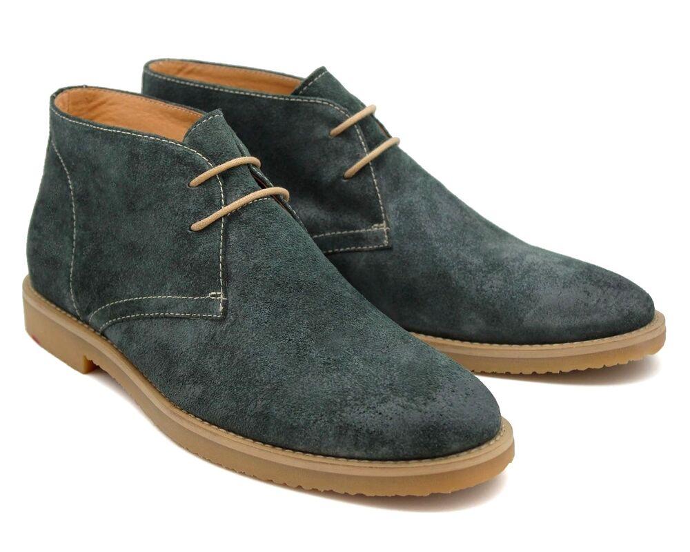 * 545 Uk 8 Homme Neuf Daim Vert Desert Boots Chukka à Lacets Taille 8 Eu 42 RéTréCissable