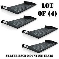 Lot Of (4) Pyle Plrstn14u 1u Server Shelf / Universal Device Rack Mounting Trays on sale
