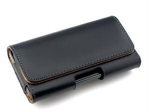 Leather-Belt-Clip-Pouch-Case-Cover-For-HTC-One-X-Samsung-S2-S3-S4-LG-Sony-Phone
