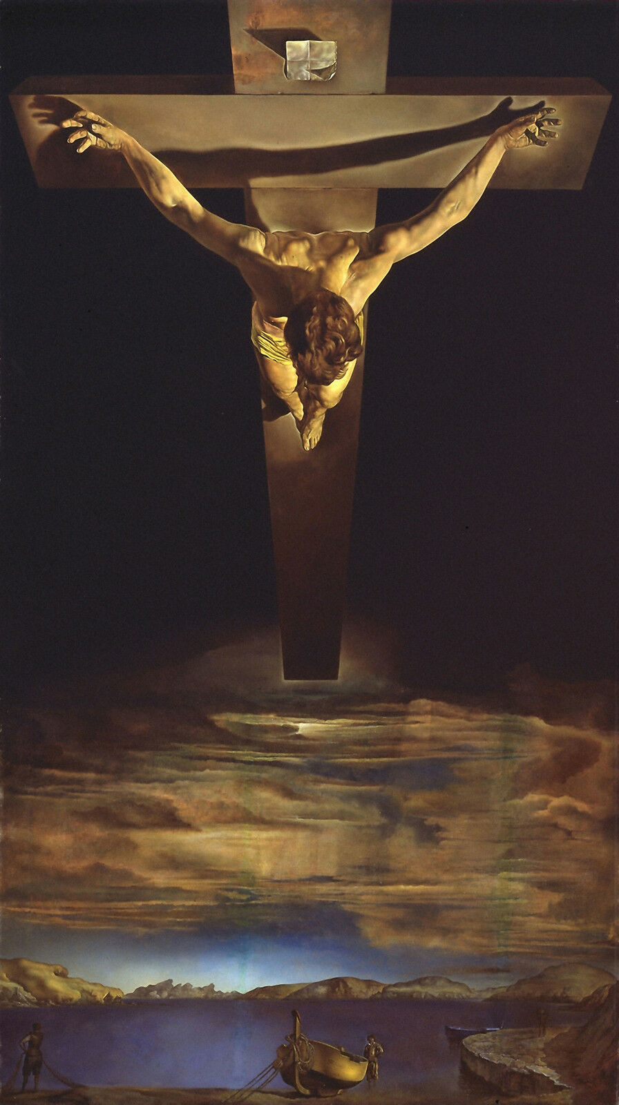 Christ of St John of the Cross By Dali   , Life of JESUS CHRIST in Art on Canvas