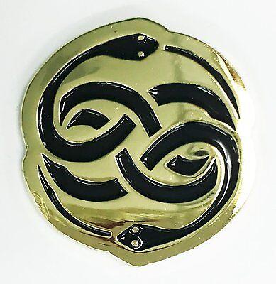 The Auryn Neverending Story Gold Enamel Lapel Pin