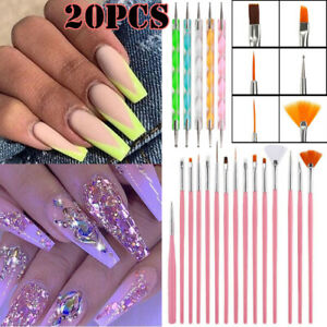 20-UV-Gel-Nail-Art-Set-Dotting-Nail-Painting-Drawing-Carving-Pen-Brush-Pen-Tools