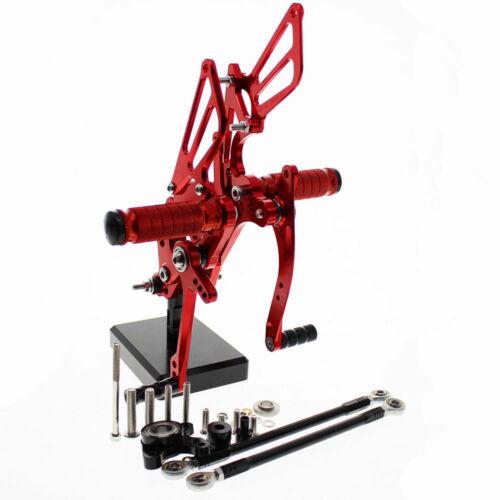For Honda CBR600RR 2003 2004 2005 2006 CNC Adjustable Rearset Footpegs Rear set