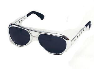 Silver-Elvis-Presley-Sunglasses-Glasses-The-King-Fancy-Dress