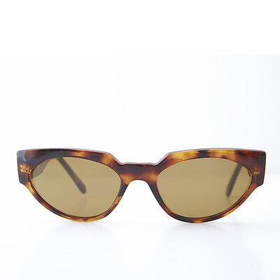 Affidabile Marrone Occhio Di Gatto Occhiali Da Sole Vintage Spesso Unico Telaio E Lente- Avere Una Lunga Posizione Storica