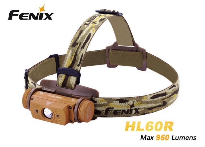 Fenix HL60R Cree XM-L2 T6  LED 950 Lumens LED Headlight Headlamp (With battery)  fitness retailer