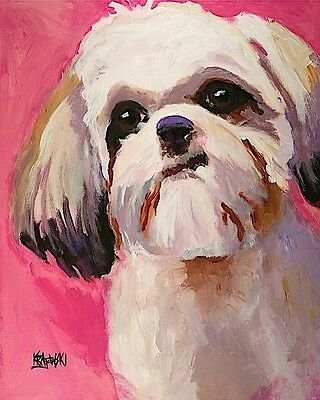 Shih Tzu Tsu Art Print from PaintingGifts Dad 8x10 Mom Picture Poster