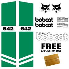 Bobcat 642 Skid Steer Set Vinyl Decal Sticker Kit 9 Pc Set Free Applicator Usa