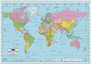 Politcal-World-Map-with-Degrees-and-Timezones-Giant-Poster-140cm-x-100cm