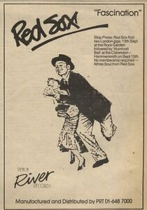 10-9-83PN32-ADVERT-RED-SOX-THE-FIRST-TWO-LONDON-GIGS-SEPTEMBER-1983-7X5