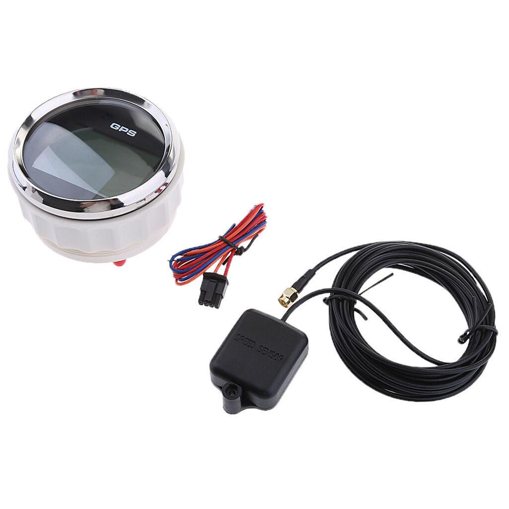85mm GPS Digital Tachoanzeige 9 32V für Auto Auto Auto LKW Marine Stiefel a65f30