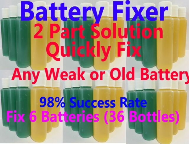 Golf Cart Battery Restore Liquid Solution Refurbish Repair 6 8 Volt EZGO  Club
