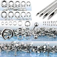 200pcs Pro Piercing Starter Kit 14G 16G 316L Jewelry Piercing Needle Ear Lip