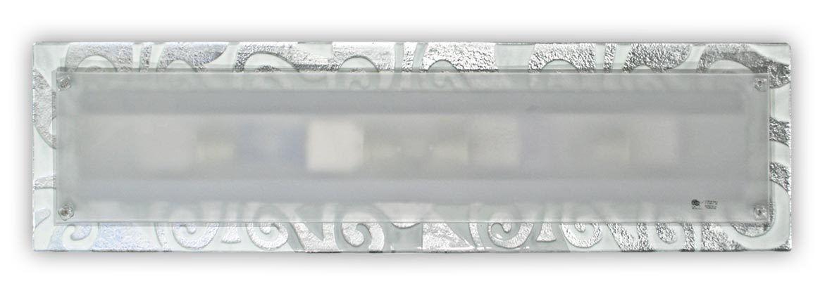 Applique di di di Murano DAMASCO argentoO BIANCO 25 X 96 cc4b72