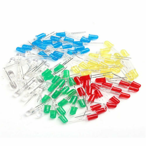 1000pcs 3//5mm Round Red//Green//Blue//Yellow//White Water Clear LED Diodes Light Kit