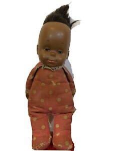 Vtg 1964 Mattel Drowsy Vinyl Baby Doll black African American Pink Pajamas