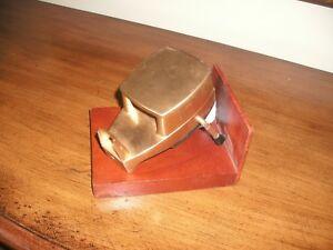 Vintage-Gold-Art-Deco-Steel-Tape-Dispenser-Economy-Electric-50th-Anniv-1966
